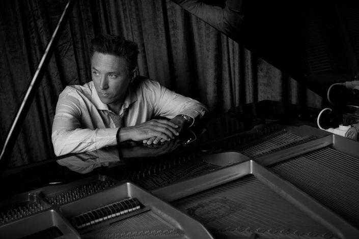 Jazz musician Dan Bolton at the piano
